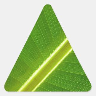 Folha de bananeira adesivos triângulo