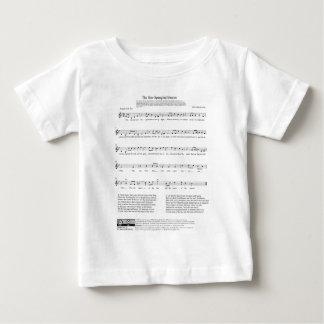 Folha de música do hino nacional de bandeira star camiseta