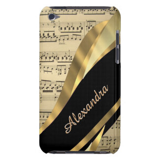 Folha de música elegante personalizada capa iPod touch