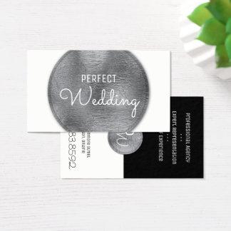 Folha de prata à moda do cartão de visita do