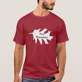 Folha do carvalho branco de New Hampshire Tshirt
