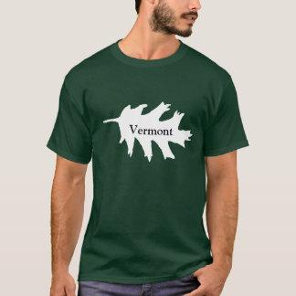 Folha do carvalho branco de Vermont T-shirts