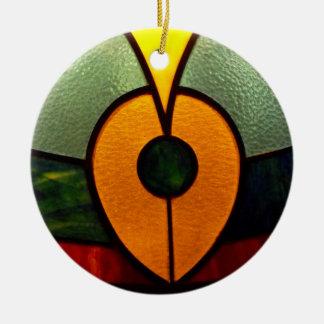 Folha do vidro da mancha ornamento de cerâmica redondo