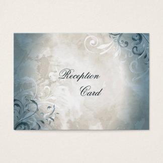 Folha elegante do vintage do cartão da recepção de cartão de visitas