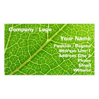 Folha verde 2 cartão de visita