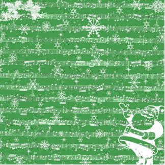 Folha verde do Musical do Natal do vintage Escultura Fotos