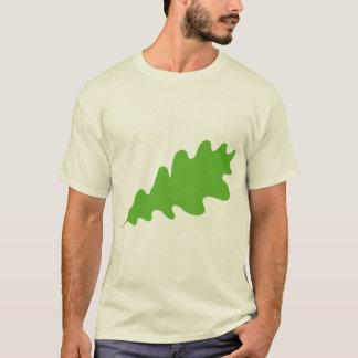 Folha verde, projeto da folha do carvalho t-shirts