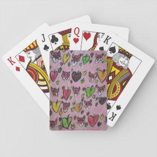 folhas das raposas cartas de baralho