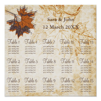folhas de bordo, carta rústica do assento do pôster