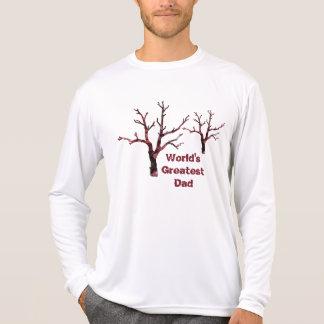 Folhas do carvalho vermelho do pai do mundo as t-shirts