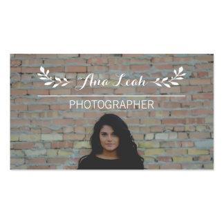 Folhas e linhas fotógrafo feito sob encomenda da cartão de visita