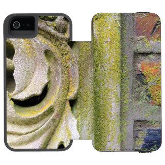 Folhas Mossy da pedra Capa Carteira Incipio Watson™ Para iPhone 5
