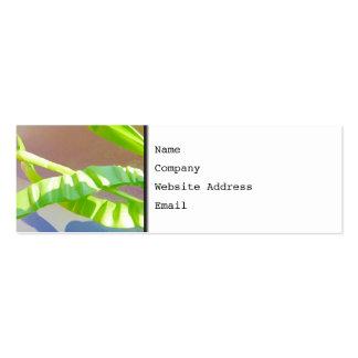 Folhas verde-clara cartão de visita skinny