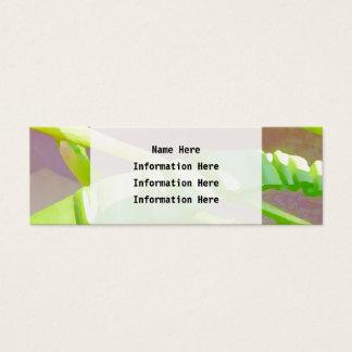Folhas verde-clara cartão de visitas mini