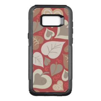 folhas vermelhas bonitas dos corações do amor capa OtterBox commuter para samsung galaxy s8+