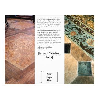 Folheto concreto decorativo interior flyer 21.59 x 27.94cm