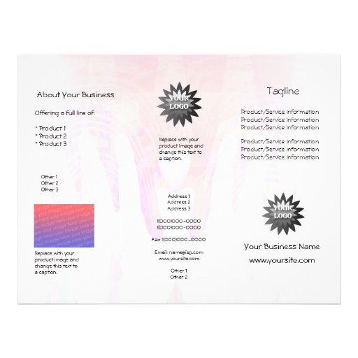 Folheto cura da mistura do rosa das mãos panfleto personalizado