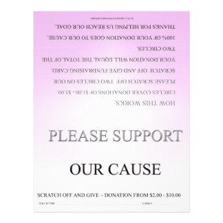 Folheto Fundraising básico cor-de-rosa de ScratchO Panfletos Personalizados
