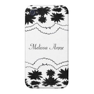Folhos femininos preto e branco capa iPhone 4