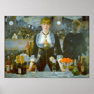 Folies-Bergere por Edouard Manet Impressão