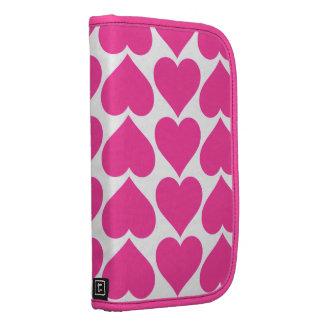 Fólio cor-de-rosa dos corações para Smartphone Agenda