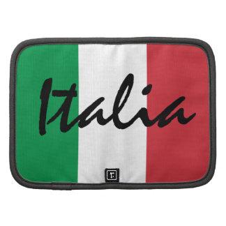 Fólio do rickshaw da bandeira de Italia Organizador