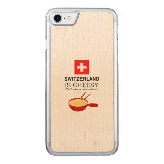 Fondue suíço engraçado capa para iPhone 7 carved