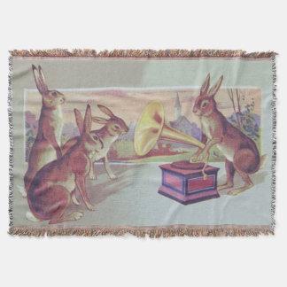 Fonógrafo do gramofone do coelhinho da Páscoa Manta