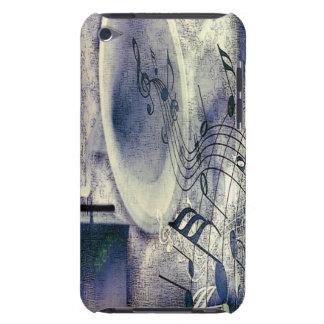 Fonógrafo e música do vintage capa iPod Case-Mate