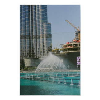 Fonte da alameda de Dubai Impressão De Foto