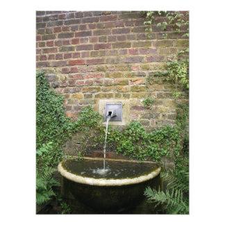 Fonte de água impressão de foto