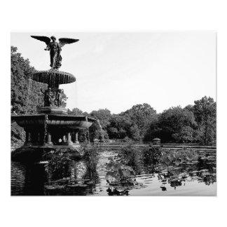 Fonte de Bethesda na foto do Central Park