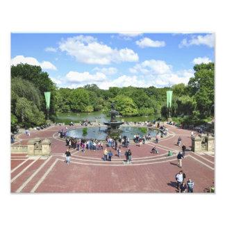 Fonte de Bethesda no Central Park NY Impressão Fotográfica
