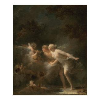 Fonte do amor por Jean-Honore Fragonard Impressão De Foto