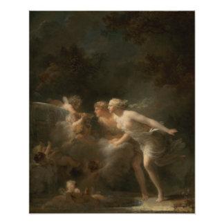 Fonte do amor por Jean-Honore Fragonard Foto Arte