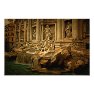 Fonte do Trevi que pinta Roma Foto Artes