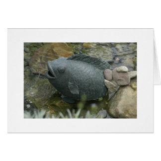 Fonte dos peixes no conservatório de Phipps Cartão De Nota