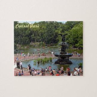 Fonte e lago no Central Park, Nova Iorque Quebra-cabeças Jigsaw