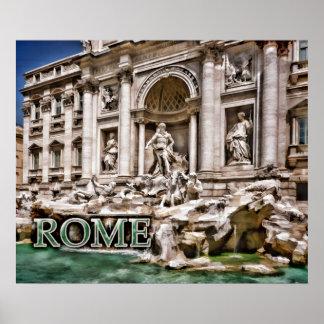 Fonte Roma Italia do Trevi Poster