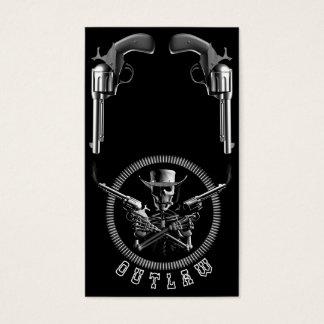 Fora da lei de esqueleto cartão de visitas