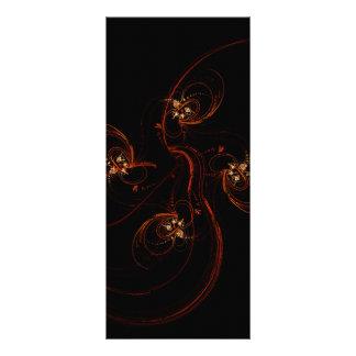 Fora do cartão escuro da cremalheira da arte