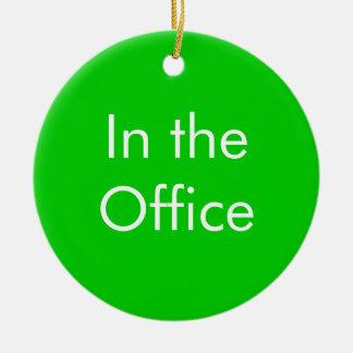 Fora do escritório/no sinal do escritório ornamento de cerâmica redondo