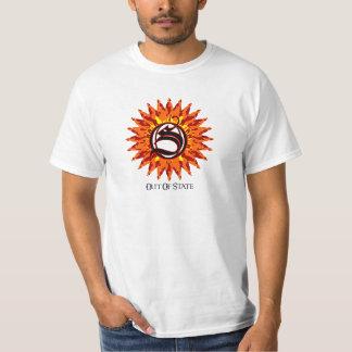 Fora do estado T branco Camisetas