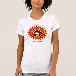 Fora do estado T branco (mulheres) T-shirts