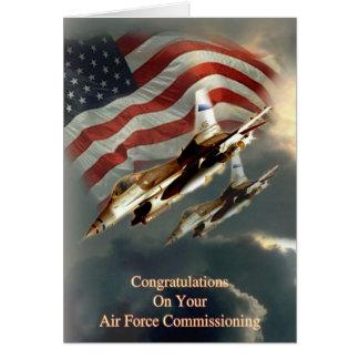 Força aérea que comissão o cartão