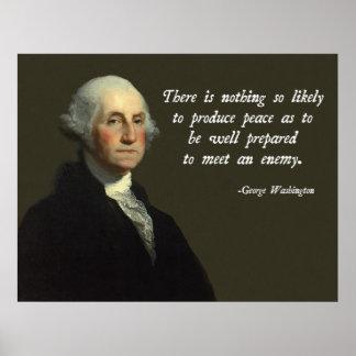Forças armadas de George Washington Poster