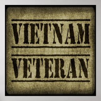 Forças armadas do veterano de Vietnam Poster
