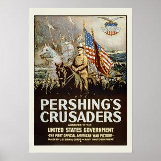 Forças armadas dos E.U. do vintage dos cruzados de Poster