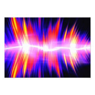 Forma de onda audio abstrata de Mullticolored Convites Personalizados