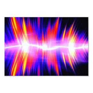 Forma de onda audio abstrata de Mullticolored Convite 8.89 X 12.7cm